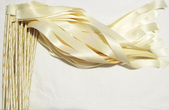 Ivory Ribbon Wands$1.00