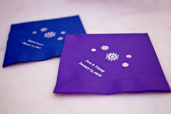Blue Purple Wedding Winter Wedding