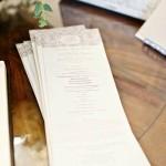 14-Taupe & Ivory Damask Wedding Programs