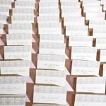 24-Taupe & Ivory Damask Escort Cards