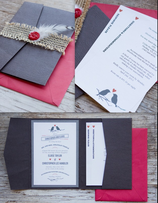 Red Black And White Wedding Invitations for adorable invitation layout