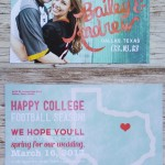 Teal & Peach Save the Dates, Football Save the Dates