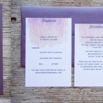 Watercolor Wedding Invitations, Purple Wedding Invitations