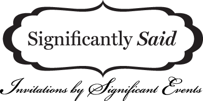 Significalntly Said: Invitations by Significant Events