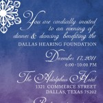 1-Gala Invitation, Watercolor Invitation, Winter Wonderland Invitation, Blue &amp; Purple Invitation