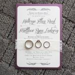 1-Plum & Ivory Invitation