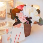 30-Copper, Peach, Blush, Burgundy, Ivory Centerpiece; Watercolor Table Numbers