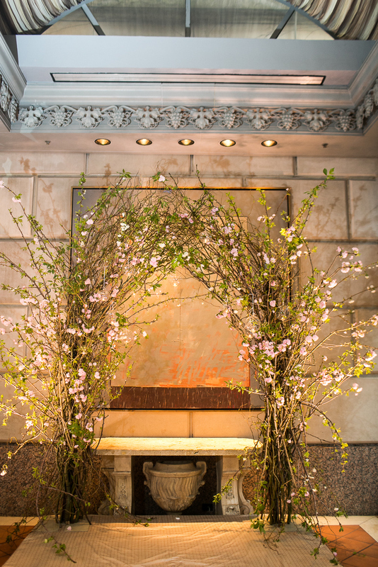 16 Cherry Blossom Ceremony Arch Rosewood Crescent Wedding