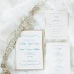 1-Ivory, Gold, & Navy Invitation