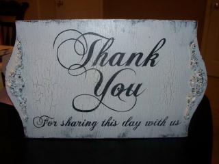Wedding, Rental, Thank You Sign