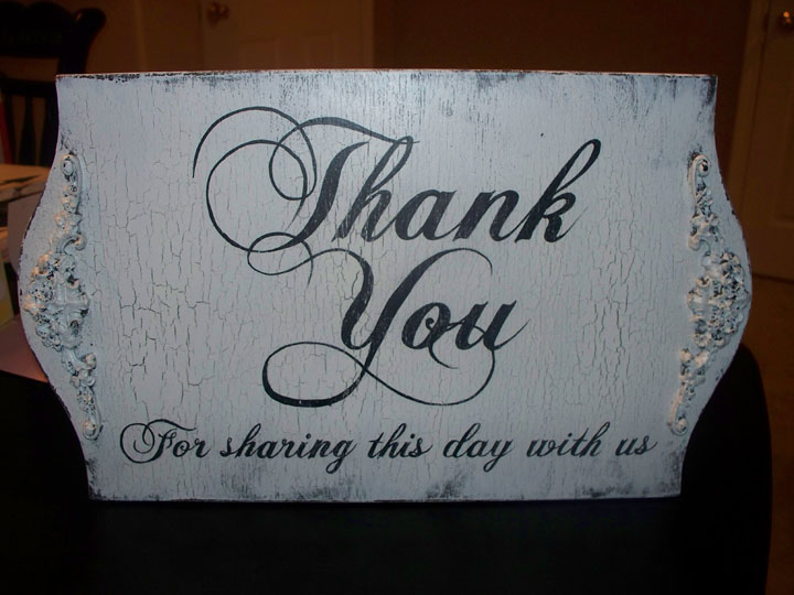 Wedding, Rental, Thank You Sign