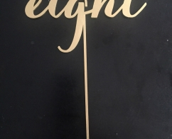 Gold, wooden, laser-cut table numbers