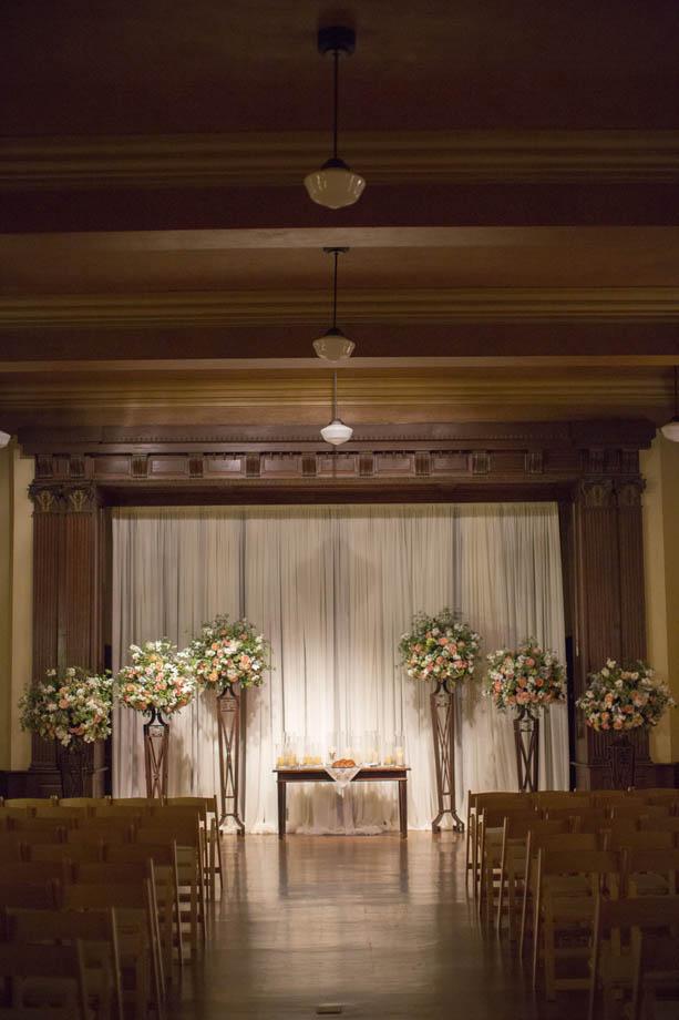 15-Julia Ideson Library Wedding, Peach & Green Wedding ...
