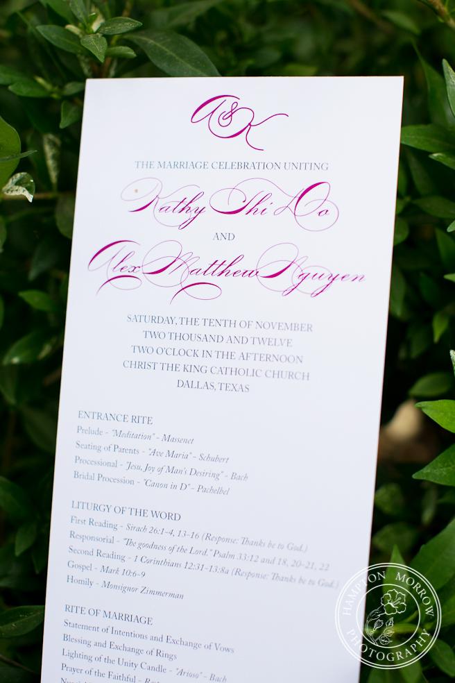 Kathy & Alex\'s Wedding - Dallas Wedding Planner