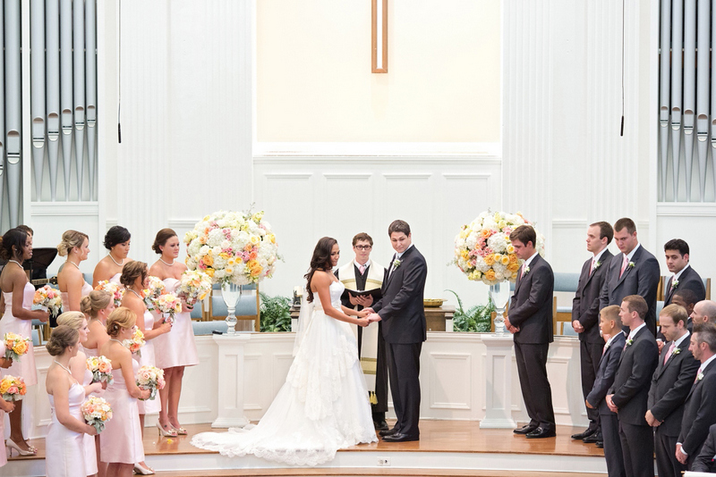 17 Pink Peach Ivory Wedding Royal Lane Baptist Church Wedding - Baptist Wedding Ceremony Traditions