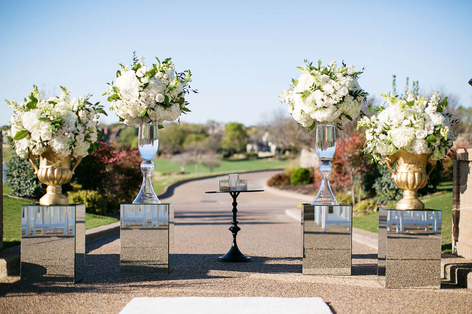 12 White Green Stonebriar Country Club Wedding