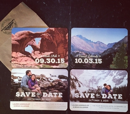 0-Arches National Park Wedding Save the Date; Denver Wedding Save the Date