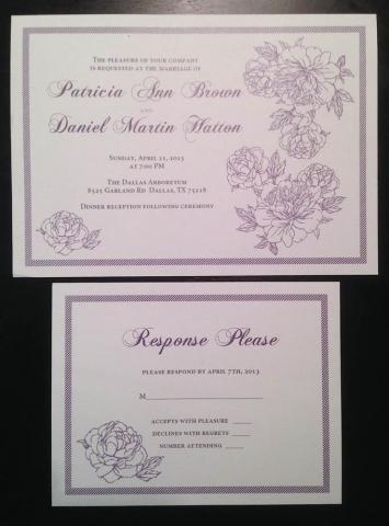 0-Purple & White Invitation