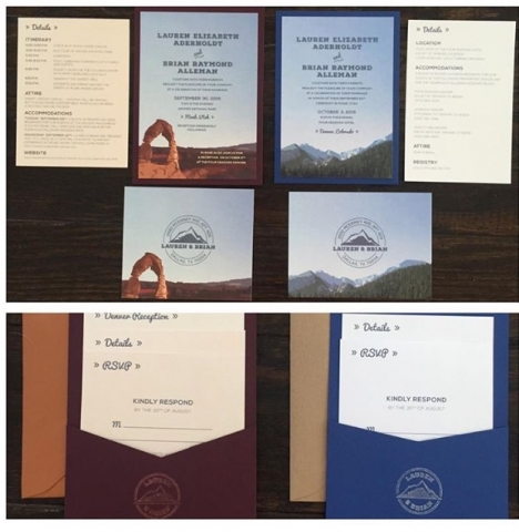 0A-Arches National Park Wedding Invitation; Denver Wedding Invitation