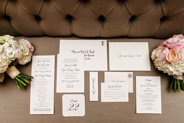 1-Black & White Wedding Invitations