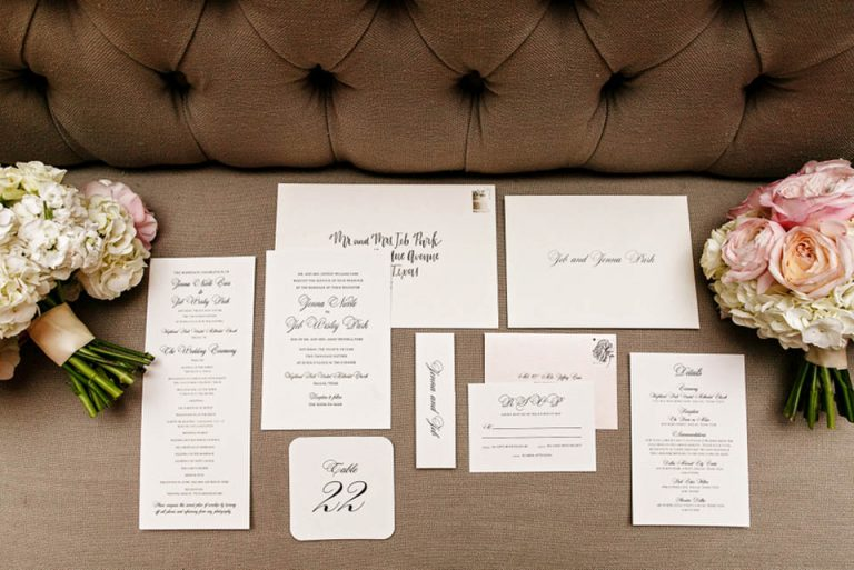 1-Black & White Wedding Invitations