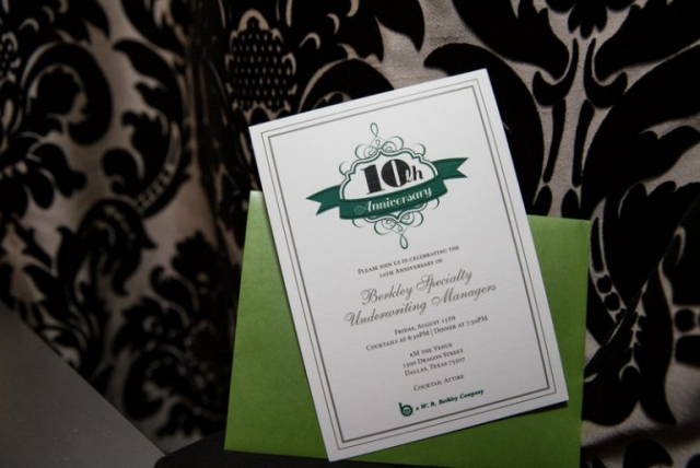 1-Green & White Corporate Invitation