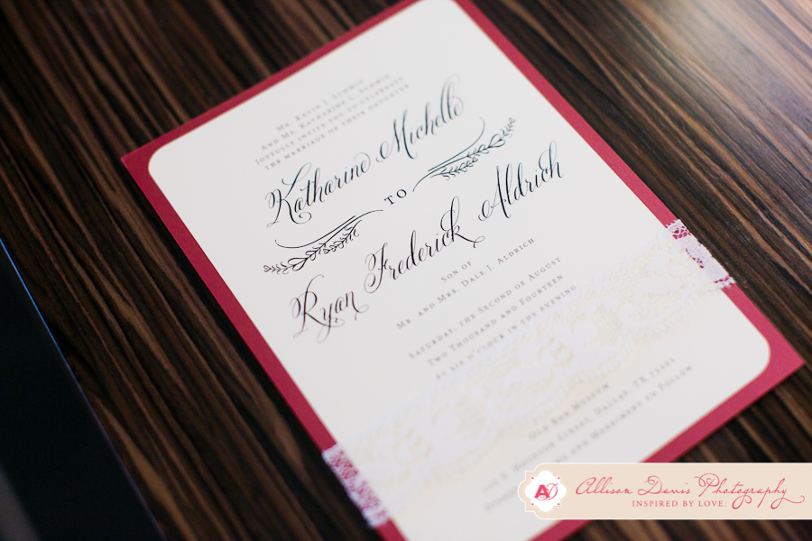 1-Ivory & Red Invitation