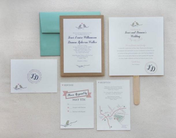 1-Love Birds Wedding Invitation