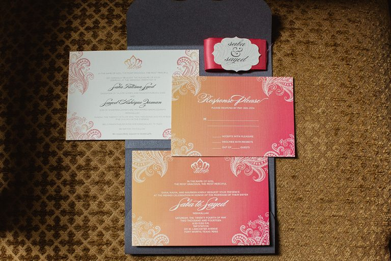 1-Ombre Wedding Invitation