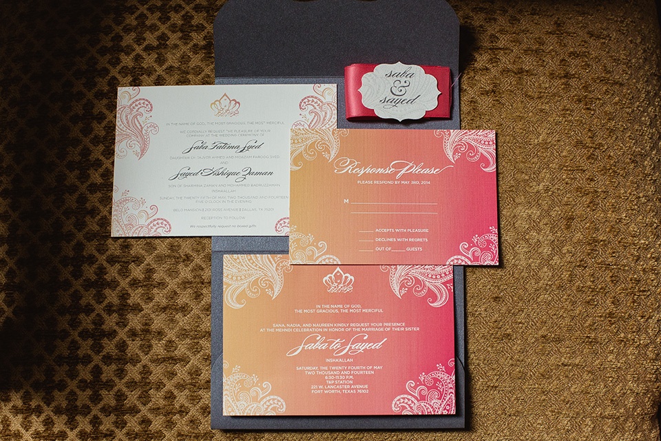 brown card for wedding invites%0A  Ombre Wedding Invitation