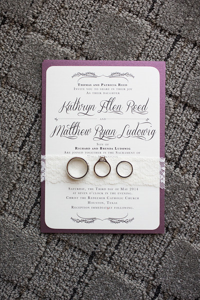 1-Plum & Ivory Invitation