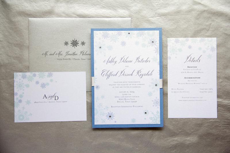 1 Winter Wonderland Wedding Invitations; Blue, White U0026 SIlver Invitations;  Snowflake Invitations