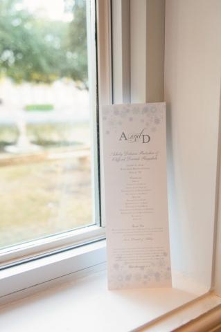 11-Winter Wedding Program; Snowflake Wedding Program; Blue & White Program