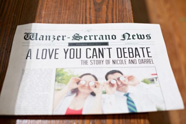 13-Newspaper Wedding Program