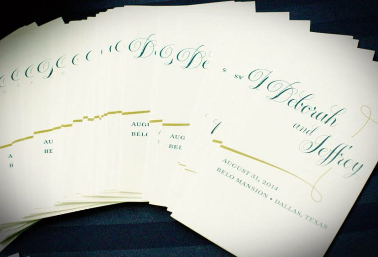 18-Ivory, Navy, & Gold Ceremony Program