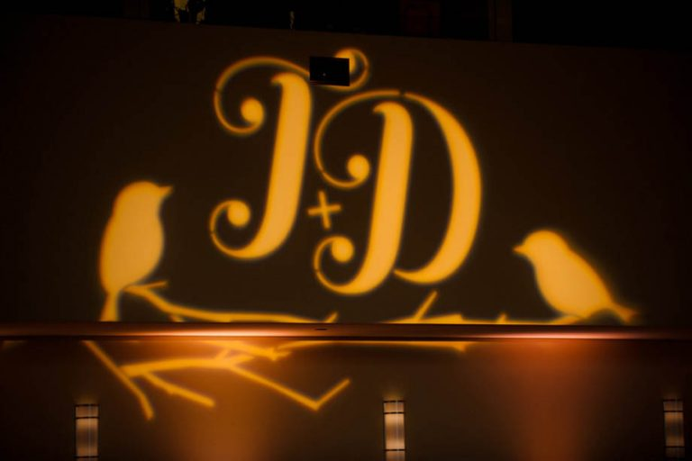 21-Lovebirds Wedding Monogram, Lovebirds Gobo