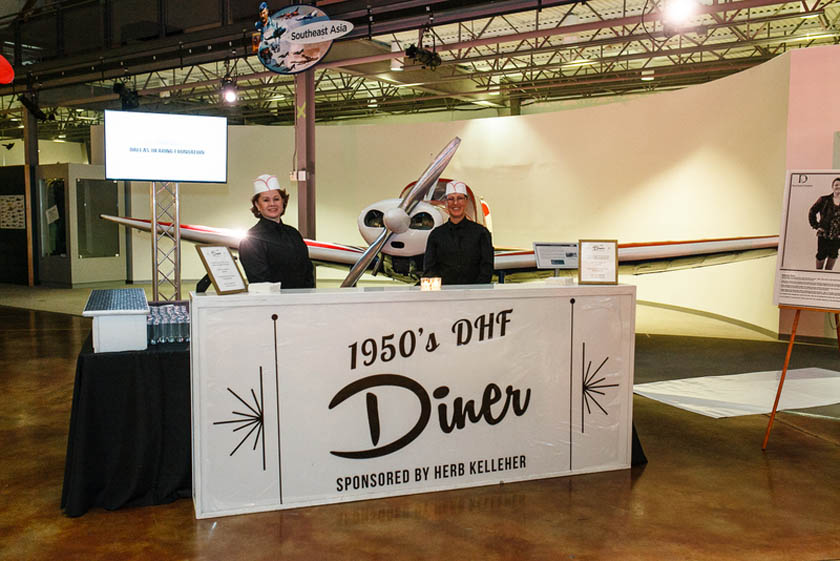 28-1950s Diner Station; Frontiers of Flight Charity Gala