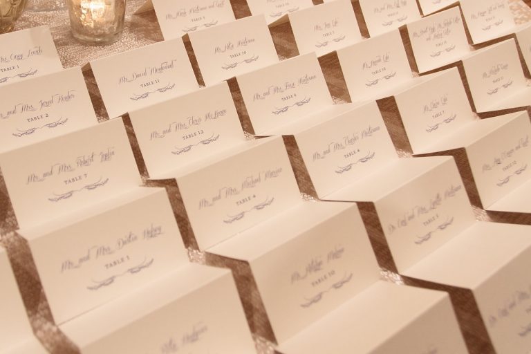 28-Navy & Ivory Escort Cards