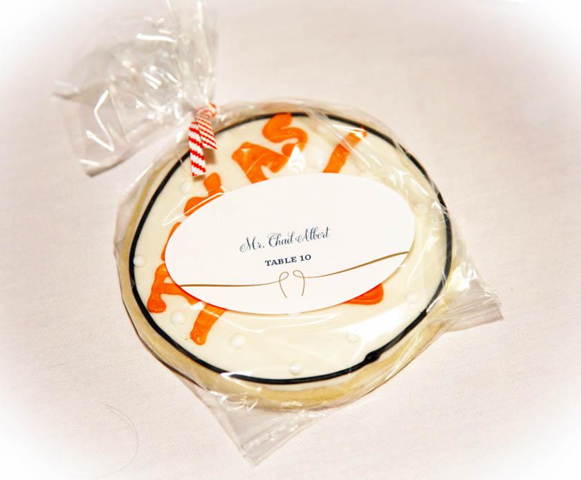 32-University of Texas wedding cookies