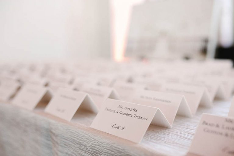 32A-Black & White Escort Cards