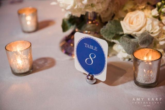 34-Blue, Silver, & White Wedding; Winter Wedding