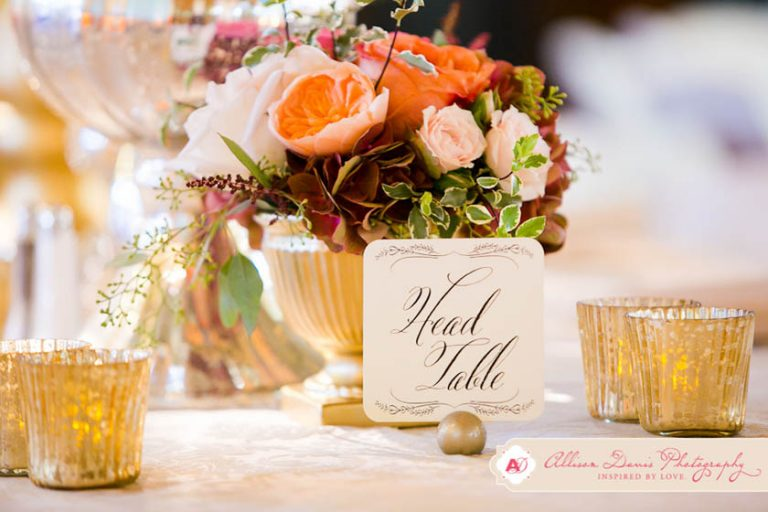 39-Peach, Pink, Red, & Gold Centerpiece