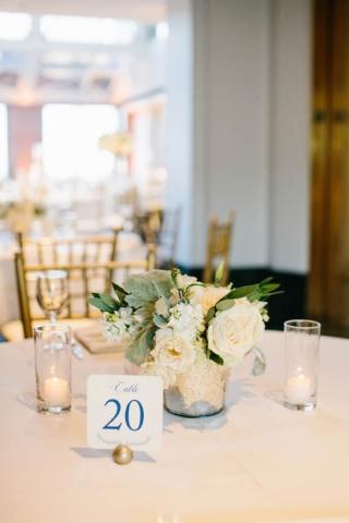 39-Sky Lobby Wedding; Ivory & Green Wedding