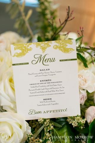 40-Italian Themed Wedding; Ivory, Green, & Taupe Wedding