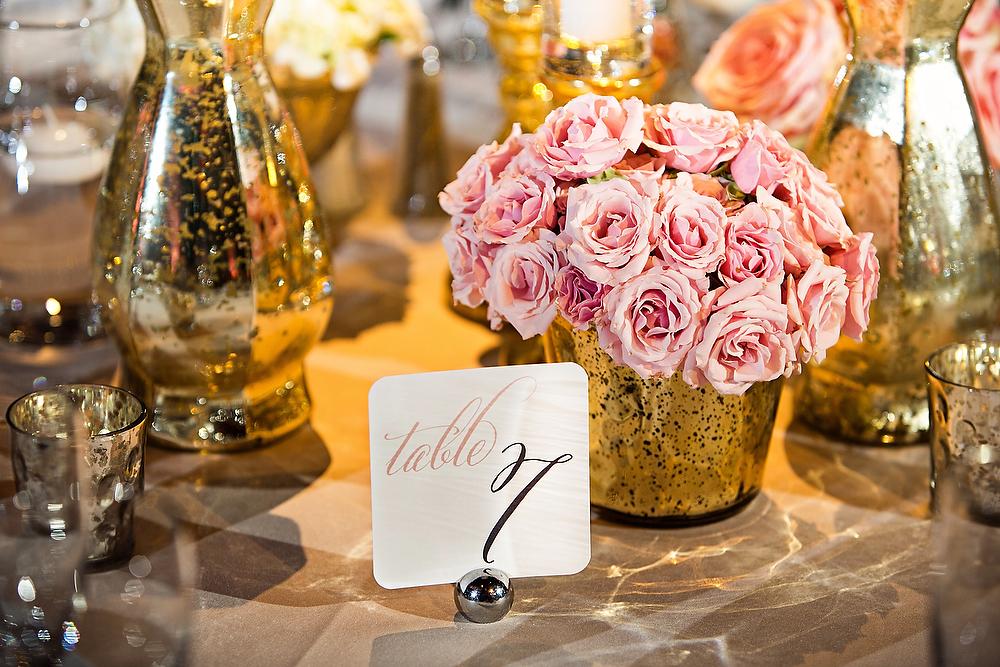 43-Pink, Gray, & white wedding