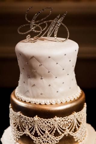 47-Crystal Cake Topper