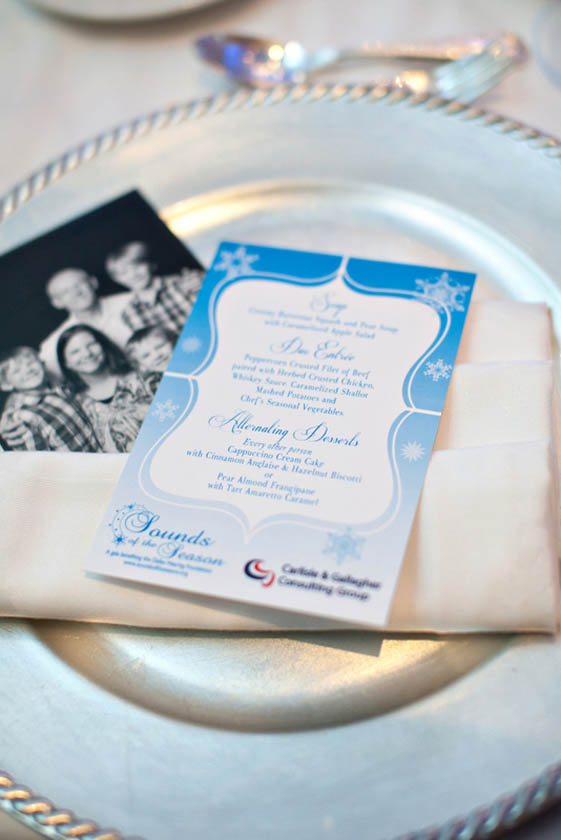 7-Blue & White Menu Card, Winter Wonderland Menu Card