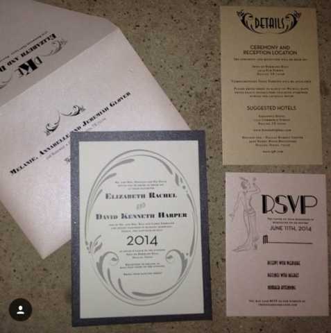 Art Deco Invitation; 1920s Invitation