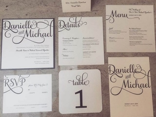 Black & White Wedding Invitation Suite