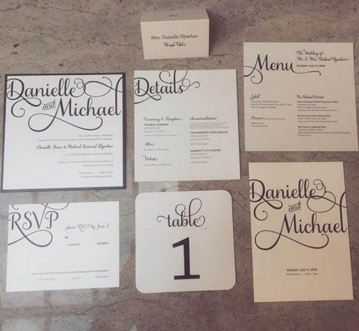 Black & White Wedding Invitation Suite